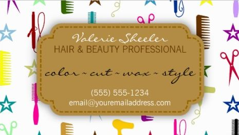 Chic Hues Multicolor Hair Combs Beauty Appointment Reminder Business Cards