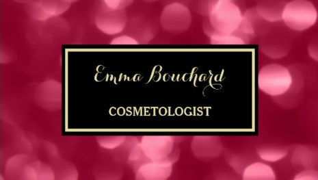 Elegant Cosmetologist Glamorous Pink Luxe Bokeh Business Cards