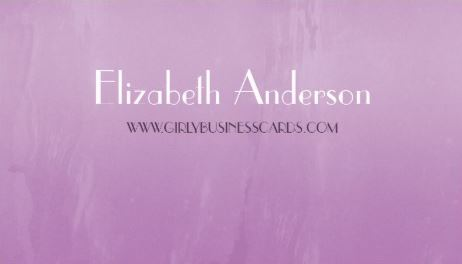 Simple Girly Purple Chic Brushed Abstract Template Business Cards
