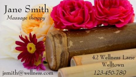 Red Rose Massage Therapist Natural Therapies Wellness Business Cards