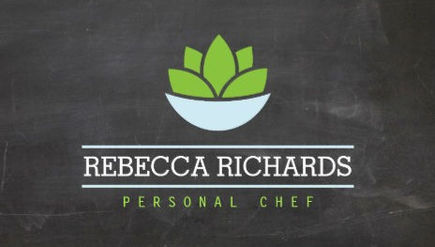 Girly cooking and chef business cards girly business cards healthy salad logo on chalkboard personal chef business cards colourmoves