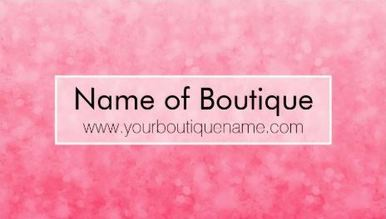 Modern Pink Fashion Boutique Soft Chic Glitter Business Cards