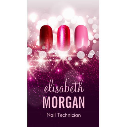 Manicurist and Nail Salon Business Cards - Girly Business Cards