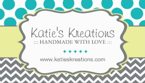 Whimsical Chevron and Dots Handmade Crafts Boutique Business Cards