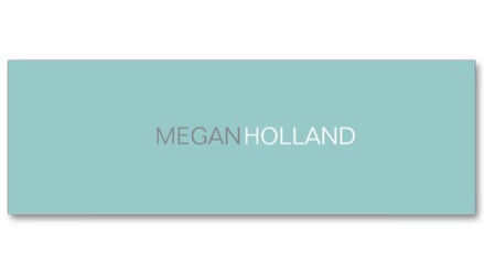 Simple Modern Turquoise Blue Profile Thin Template Business Cards