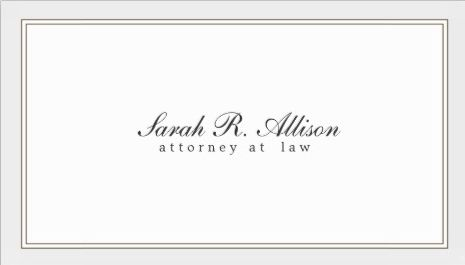 Simple and Elegant Attorney White With Border Template Business Cards