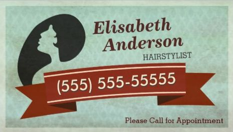 Vintage Grunge Hairstylist Salon Appointment Reminder Business Cards