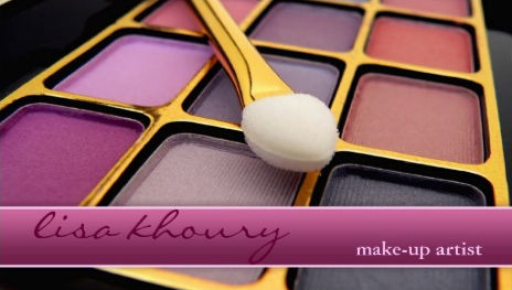 Plum Purple Eye Shadow Professional Makeup Artist Business Cards