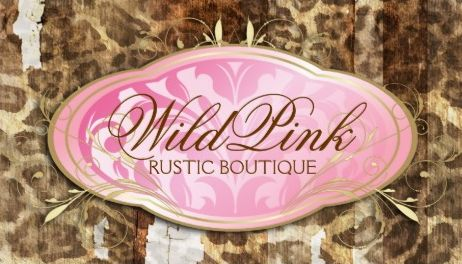 Wild Pink and Brown Boutique Rustic Leopard Print Business Cards