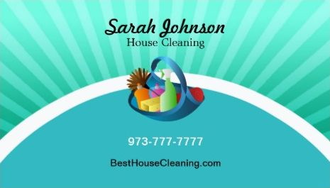 Girly cleaning services business cards page 1 girly business cards modern and fresh teal cleaning basket house cleaning business cards colourmoves