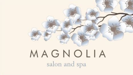 Elegant White Blossom Chic Beauty Spa and Salon Template Business Cards