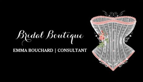 Elegant Bridal Boutique Vintage Roses Corset Lingerie Business Cards