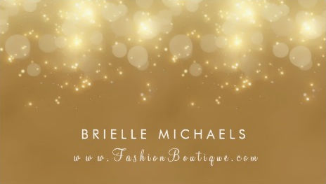 Luxury Gold Bokeh Sparkle Glamour Boutique Business Cards