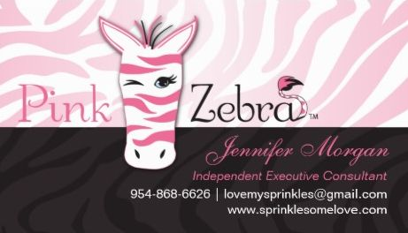 Cute Black and Pink Winking Zebra Print Executive Consultant Business Cards
