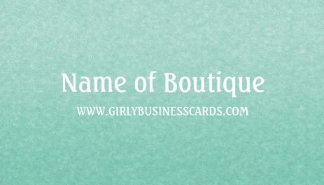 Simple Chic Mint Green Minimalist Boutique Template Business Cards