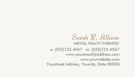 Simple and Sophisticated Off White Minimalist Template Business Cards
