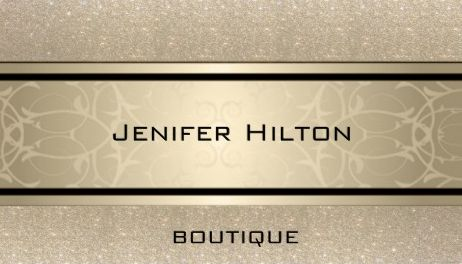 Professional Glittery Gold Boutique Classy Modern Elegance Business Cards