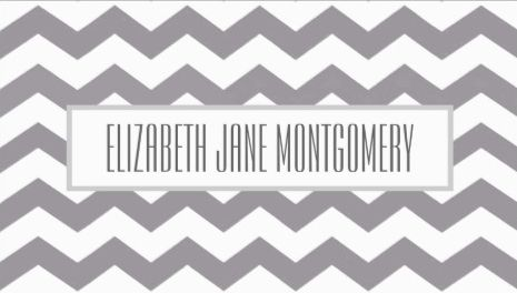 Trendy Grey and White Chevron Modern Appointment Business Cards