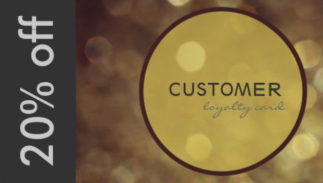 Elegant Deep Gold Bokeh Gift and Discount Card Business Cards