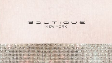 Faux Sequins and Linen Cute Pink Chic Boutique Business Cards