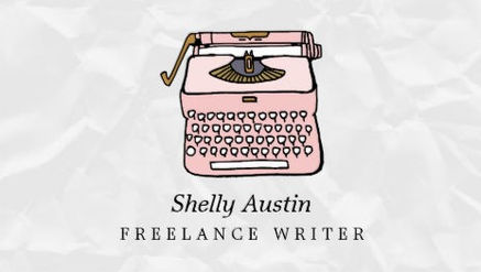 Girly Fiction Writer With Retro Pink Typewriter Business Cards