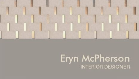 Elegant Beige And Gold Tranquility Interior Designer Modern Business Cards
