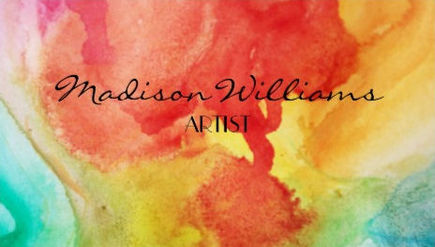 Stylish Artistic Colorful Rainbow Watercolor Artist Business Cards