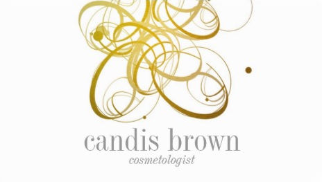 Minimal Chic Faux Gold Swirls Cosmetologist Business Cards