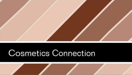 Retro Mod Cosmetics Connection Brown Horizontal Stripes Business Cards