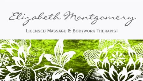 Feminine White Flowers Professional Massage Appointment Business Cards