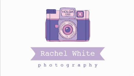 Girly photography business cards for the professional woman cute violet and pink vintage camera photography business cards reheart Choice Image