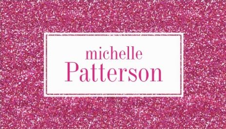Glamorous Hot Pink Glitter Professional Profile Business Cards
