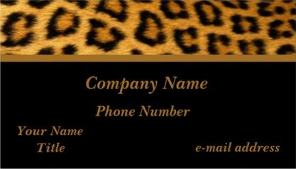 Elegant Tawny Brown Fur Luxurious Leopard Print Black Background Business Cards
