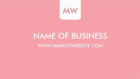Plain Chic Monogram Social Media Customizable Color Business Cards