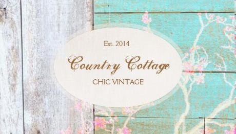 Rustic Aqua and White Wood Country Cottage Chic Designer Business Cards