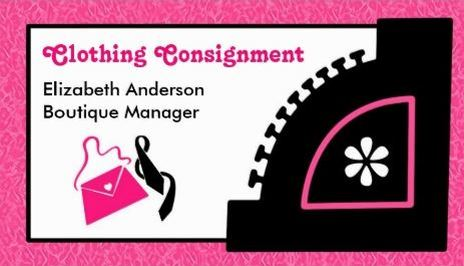 Girly Pink Leopard Clothing Consignment Boutique Business Cards