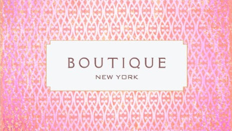 Exotic Pink Artistic Pattern Fashion and Beauty Boutique Business Cards