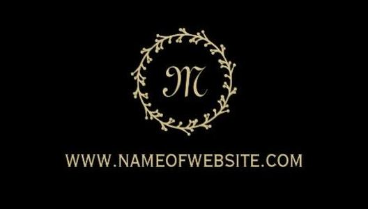 Simple Professional Black Elegant Gold Monogram Business Cards