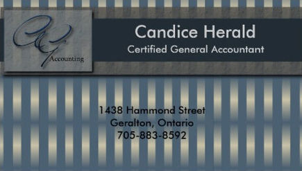 Classy Faux Metallic Blue Stripes Certified Accountant Business Cards