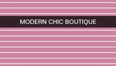 Modern Chic Thin Pink Stripes Fashion Boutique Business Cards