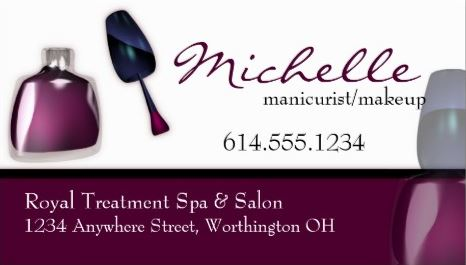 Manicurist And Nail Salon Business Cards Girly Business Cards