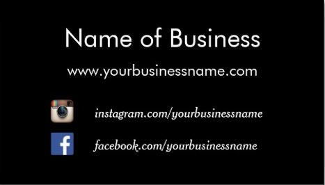 Modern Plain Black Social Media Websites Template Business Cards