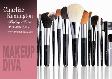 Modern Makeup Diva Brushes Cosmetologist Makeup Artist Business Cards