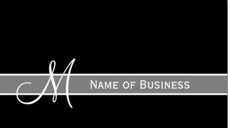 Elegant Black and White Monogram With Name Template Business Cards