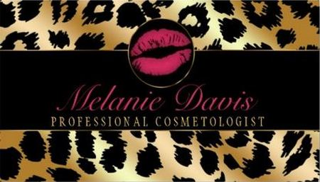 Chic Black and Gold Leopard Print Cosmetology Business Cards