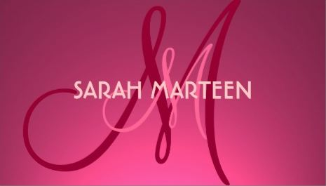 Simple Hot Pink Fade Custom Monogram Template Business Cards