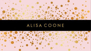 Light Pink Dazzled Faux Gold Specks Custom Background Business Cards