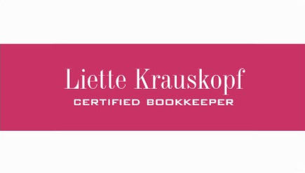 Simple Hot Pink Stripe Modern Certified Bookkeeping Business Cards