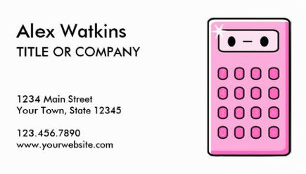 Cute Pink Accountant Calculator Financial Services Business Cards