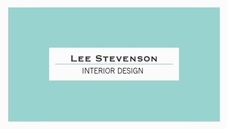 Simple and Chic Interior Designer Turquoise and White Template Business Cards